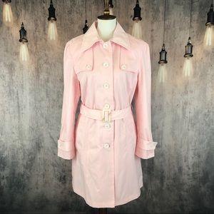 Nanette Nanette Lepore Blush Trench Coat, sz L NWT